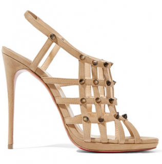 Christian Louboutin Guinievre 120 studded suede slingback sandals