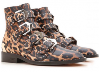 Givenchy Leopard Print Buckle Boots