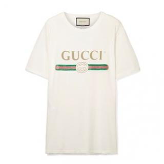 Gucci Classic White Logo T-shirt