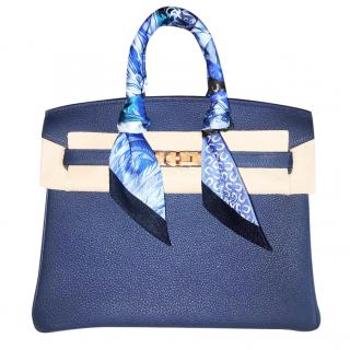 Hermes bleu d encre 25cm Birkin