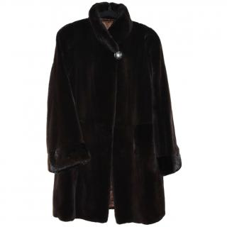 Saga Furs Sheared Mink Coat