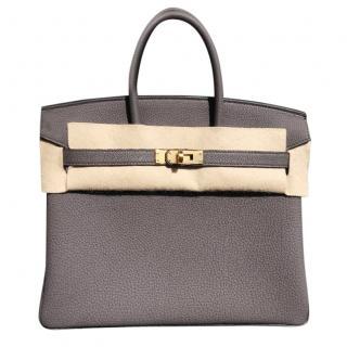 Hermes etain 25cm Birkin Bag