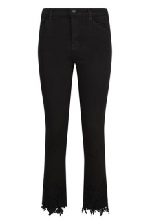 J Brand Ruby Lace Trim skinny crop Cigarette Jeans