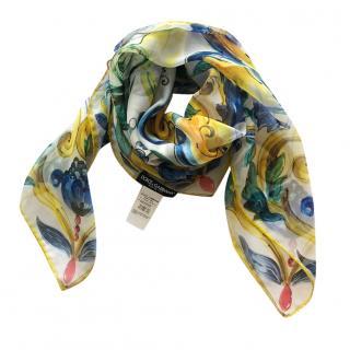 Dolce & Gabbana Maiolica square head scarf