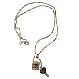 Chanel CC Lock and Key Necklace
