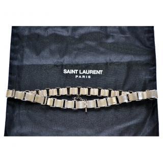 Saint Laurent runway metal silver belt