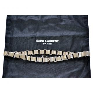 Saint Laurent runway metal silver belt