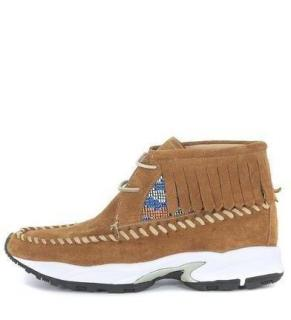 PHILIPPE MODEL Brown Suede Totem Mid Top Trainers
