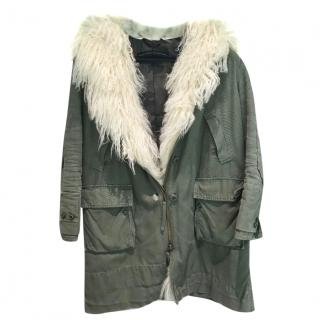 Ermanno Scervino camo lined coat