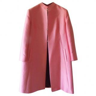 Versace pink silk blend coat UK 12 IT44