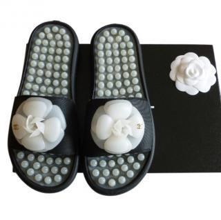 Chanel Rubber Slides