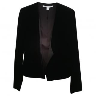 DVF Black Velvet jacket
