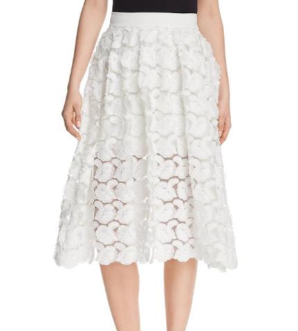 Maje Jardin Rosette Applique Skirt