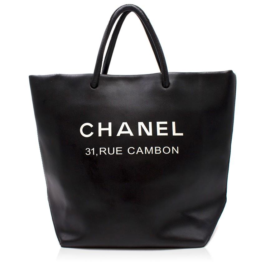 7dd0661f6666 Chanel Black Runway Rue Cambon Tote Bag 1 | HEWI London