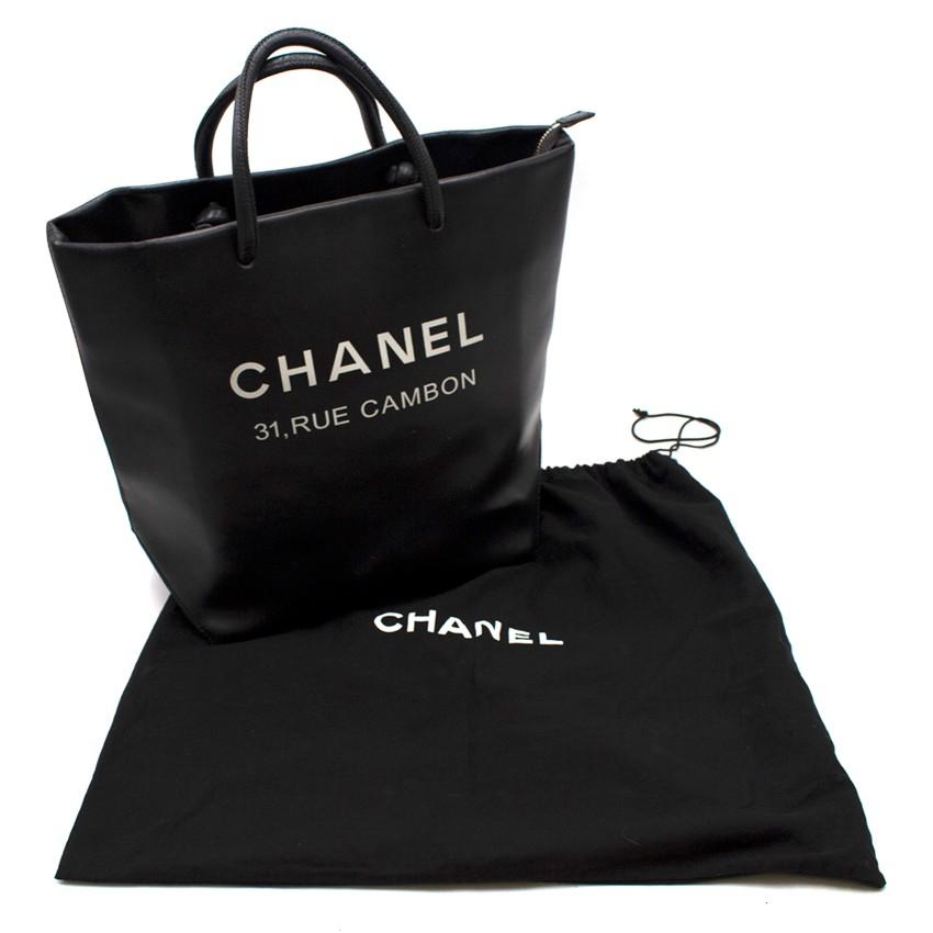 9f95b23d0680 Chanel Black Runway 'Rue Cambon' Tote Bag. 24. 12345678910