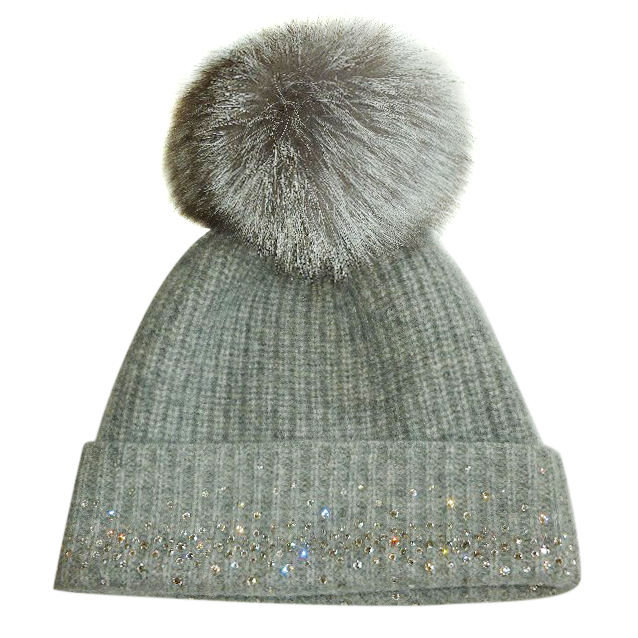 William Sharp Cashmere Swarovski Crystal Embellished Hat 1  239835ff1a7c