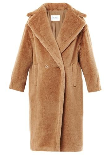 Max Mara Alpaca Wool Blend Camel Tapioca Coat