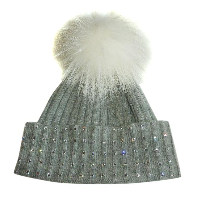 William Sharp Cashmere Swarovski Embellished Hat  cf4393607ce0