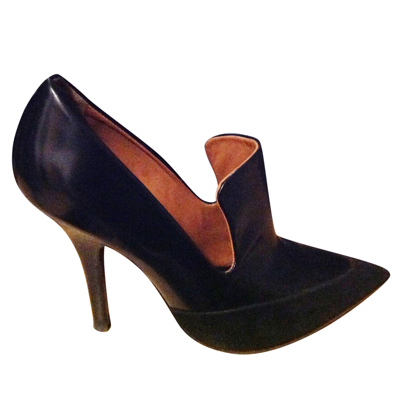 Celine Leather & Velvet Booties