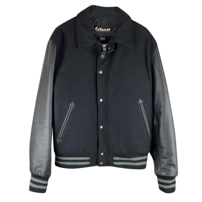 f628cb49f Schott NYC Wool & Leather Varsity Jacket