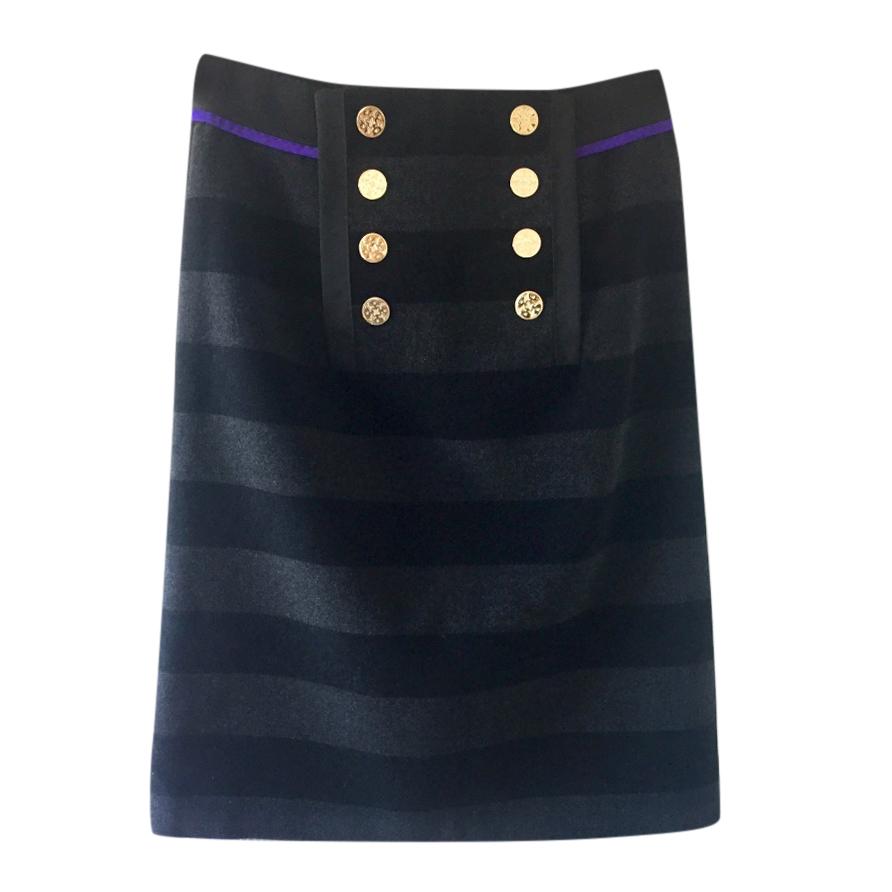 Louis Vuitton Striped Wool skirt