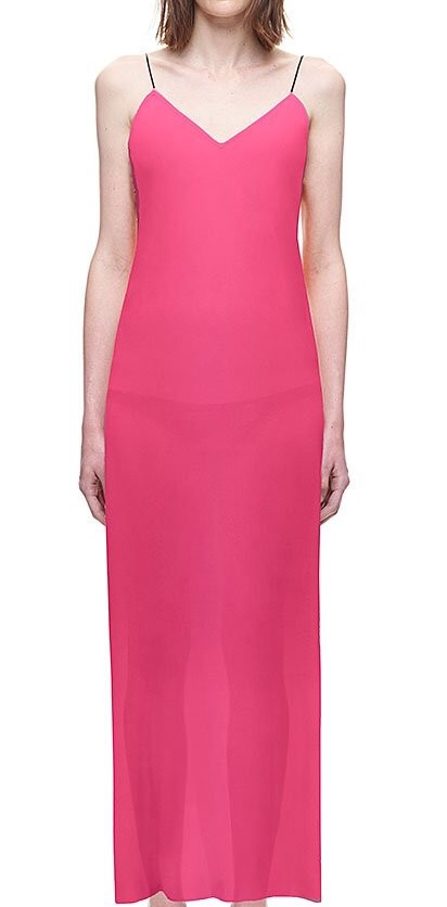 Self-Portrait Hot Pink Slip Dress
