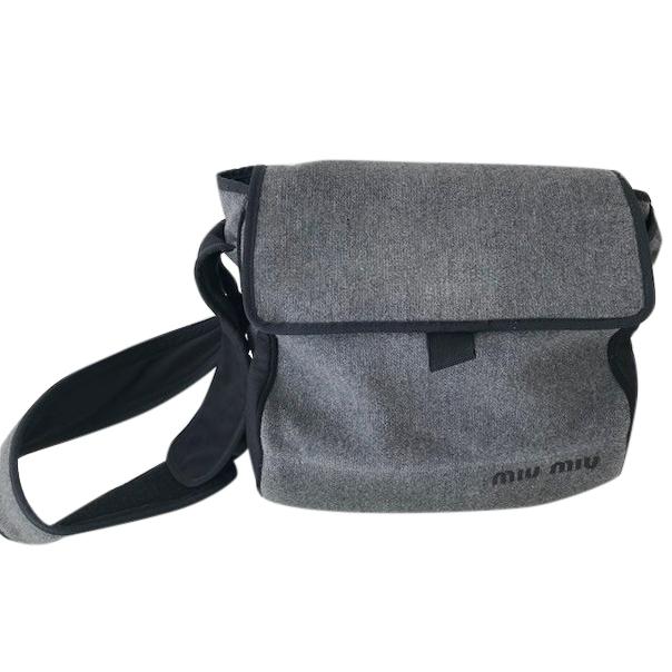 Miu Miu Wool Messenger Bag