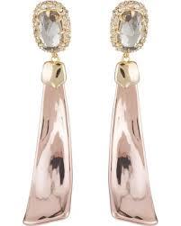 Alexis Bittar 14k Gold Plated Crystal Drop Earrings