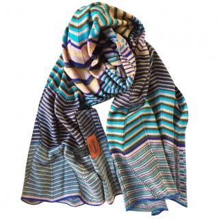 Missoni knit zig zag scarf