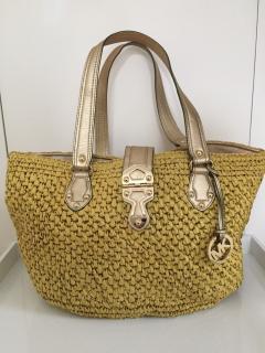 Michael Michael Kors Santorini Large Basket Straw Tote Bag