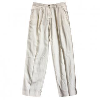 Bamford cream linen trousers