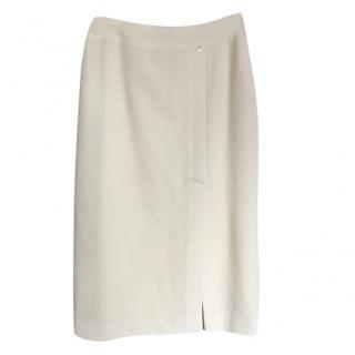 Chanel Cream Wool Blend Skirt