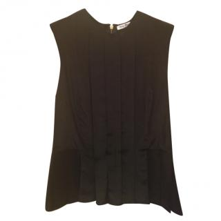 Miu Miu Black Pleated Top