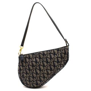 Dior Blue Monogram Saddle Bag