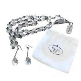 Prada Drop Earring & Necklace Set