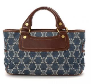 Celine Denim Logo Tote Bag