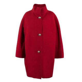 Balenciaga Red Wool Coat