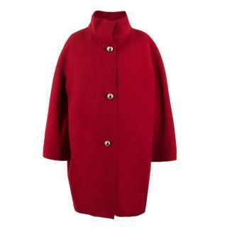 Balenciaga Red Wool Coat