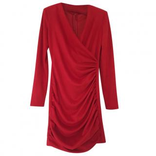 Maje Draped Red Dress