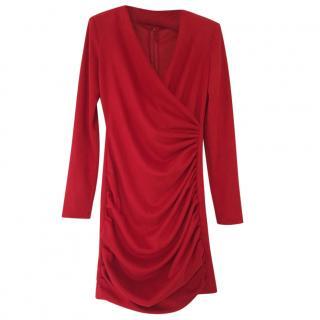 Maje Draped Red Dress