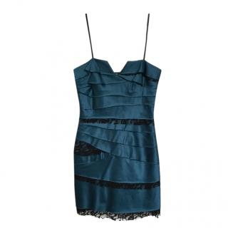 BCBGeneration Blue Boned Mini Dress
