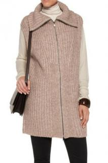 Vince merino wool & alpaca blend sleeveless knit cardigan