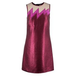 Christopher Kane Glitter Lightening Shift Dress