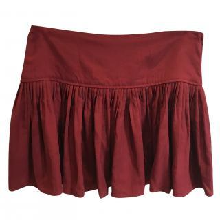 Isabel Marant Etoile Red Ruffled Skirt