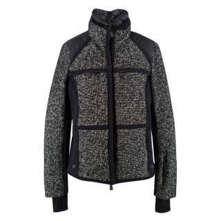 Moncler Grenoble Black and White Tweed Ski Jacket