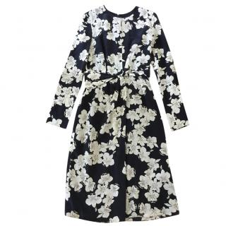 Erdem floral print sik chiffon dress