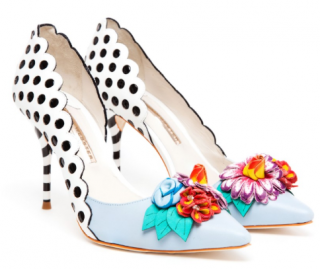 Sophia Webster Mika Floral Polka Dot Shoes