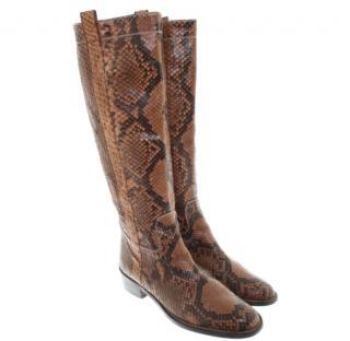 Valentino Python Boots