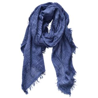 Polo Ralph Lauren blue cotton scarf