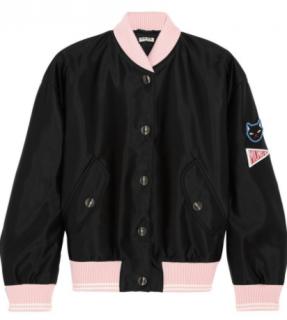 Miu Miu cat applique bomber jacket